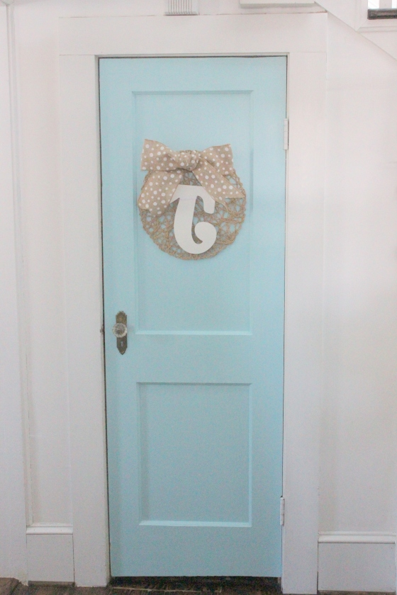 bright pantry door