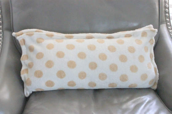 baby blanket covered pillow