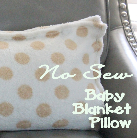 baby blanket pillow text