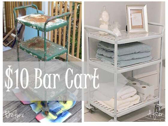 Before and After Bar Cart