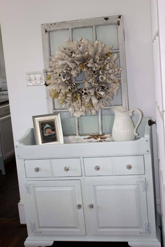 homemade chalk paint buffet full