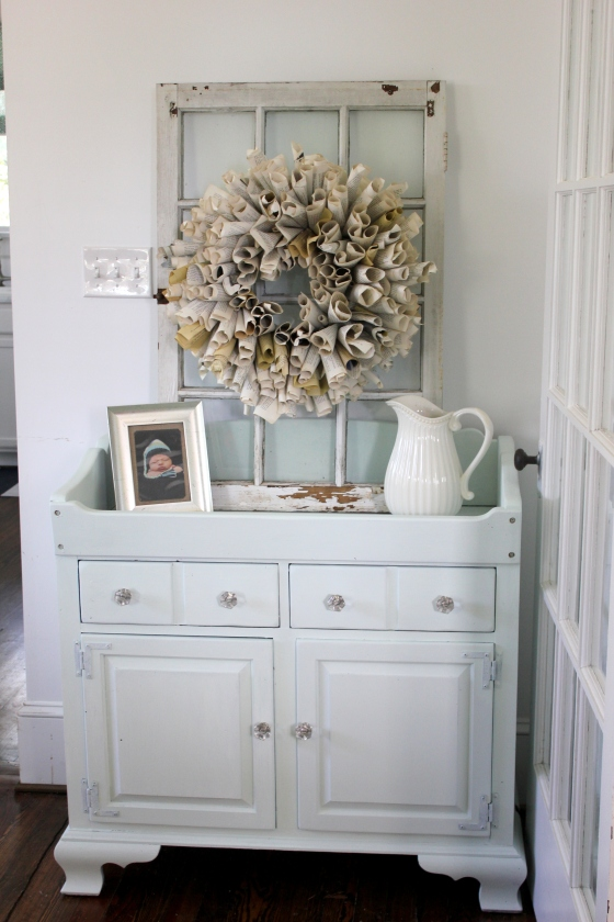 homemade chalk paint buffet picture