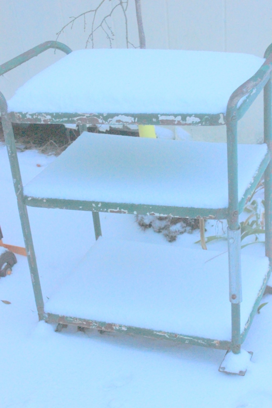 snow bar cart
