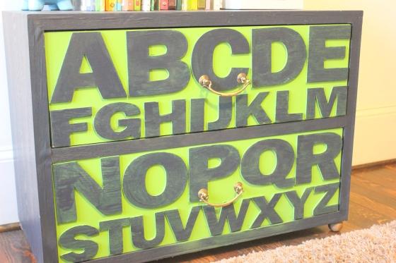 ABC nightstand close up