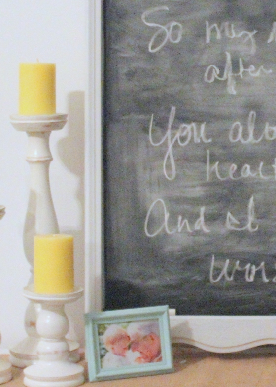close up mirror to chalkboard