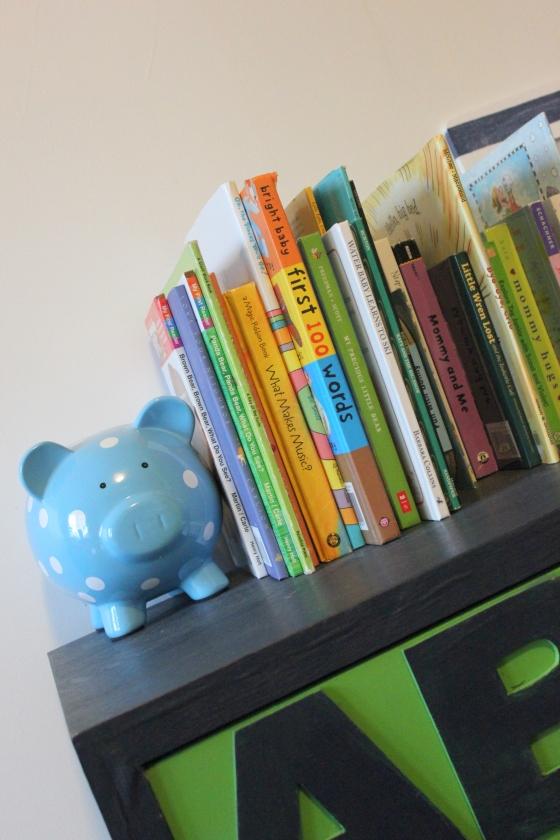 close up of books