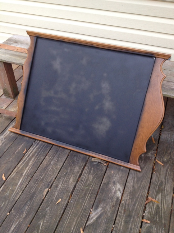 mirror with chalkboard paint