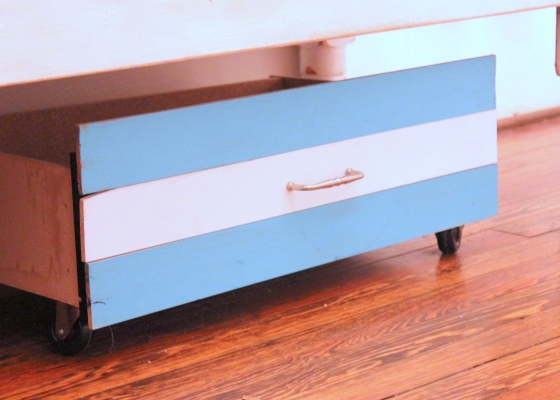 Rolling Drawer Shoe Storage