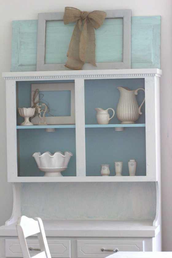 Painted China Cabinet and Cabinet Door from our first house